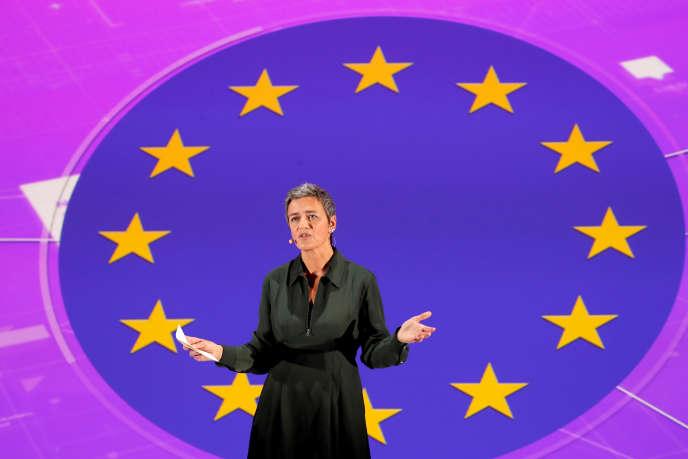 La commissaire européenne à la concurrence, Margrethe Vestager, à Paris, en octobre 2017.