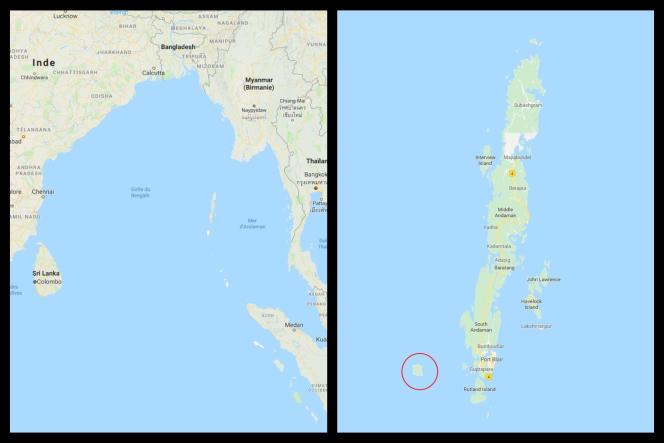 L'île de North Sentinel est un territoire majoritairement peuplé de colons venus du sous-continent indien.