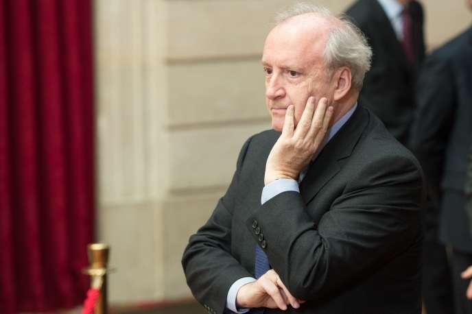 Hubert Védrine, ancien secrétaire général de l'Elysée (1991-1995) et ex-ministre des affaires étrangères français (1997-2002),en 2013.