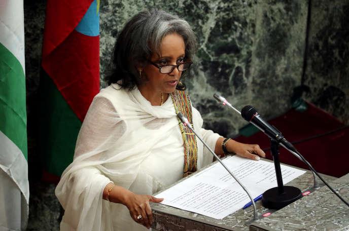 La présidente éthiopienne, Sahle-Work Zewde, à Addis-Abeba, le 25 octobre 2018.