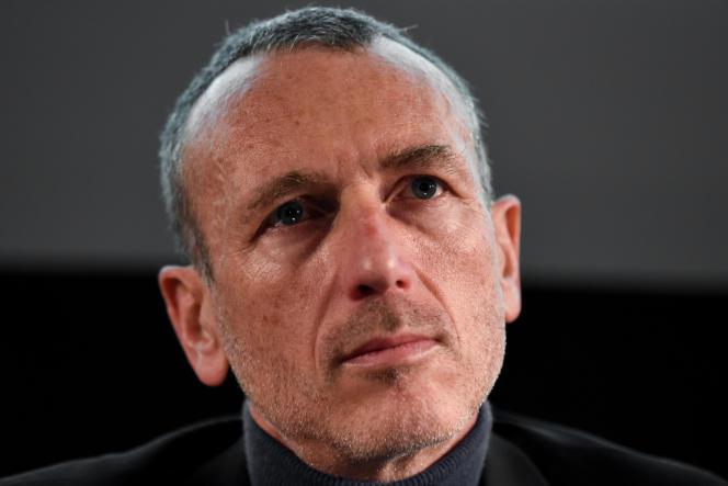 Emmanuel Faber, PDG de Danone, dans le Club de l'économie du « Monde », à Paris, le 29 novembre.