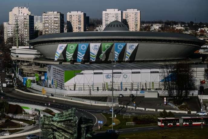 Le centre de conférences de Katowice, en Pologne, le 29 novembre, où se tiendra la COP24 à partir du 2 décembre.