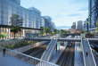 Nanterre ( Hauts-de-Seine) accueillera d'ici à 2030 et 2035 deux nouvelles gares, Nanterre-La Folie (ci-dessus, vue d'architecte) et Nanterre-La Boule, situées sur les lignes de métro 15 et 18 du Grand Paris Express.