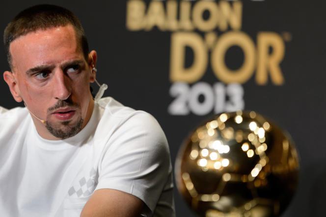 Franck Ribéry avant la cérémonie du Ballon d'or en 2013.