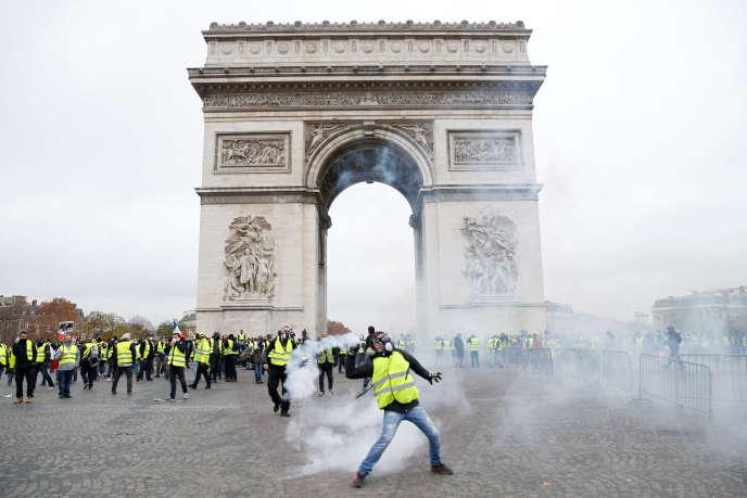 L'Arc de triomphe avait été saccagé lors d'une manifestation de « gilets jaunes», le1erdécembre2018.