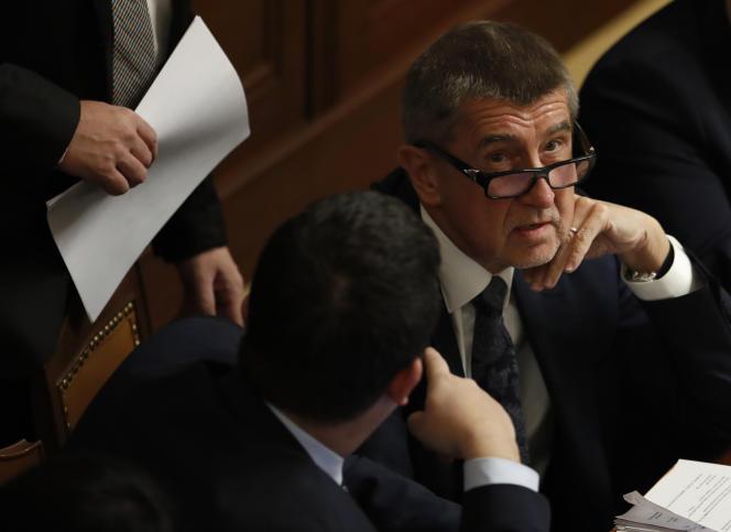 Le premier ministretchèque, Andrej Babis, lors d'une session du Parlement, à Prague, le 23 novembre.