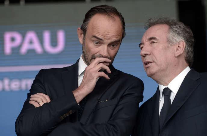 Edouard Philippe et François Bayrou, le 9 septembre 2017, à Pau.