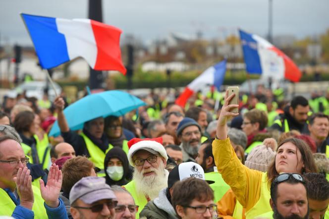 Manifestation de « gilets jaunes» à Bordeaux, samedi 1er décembre 2018.