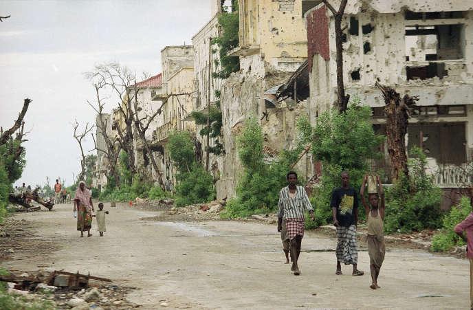 En décembre 1992, dans la capitale somalienne Mogadiscio.