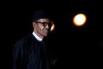 Le président nigérian Muhammadu Buhari, au Musée d'Orsay, à Paris, le 10 novembre 2018.