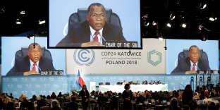 Lors de la COP 24, à Katowice, en Pologne, le 2 décembre.