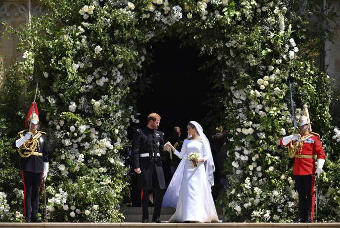 Harry et Meghan le jour de leur mariage, le 19 mai 2018.