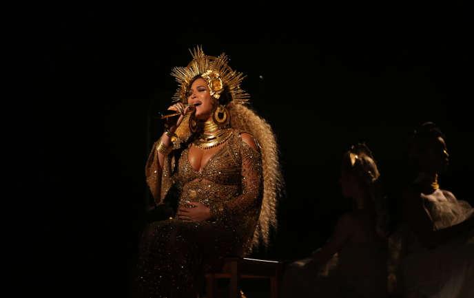 Beyoncé en concert à Los Angeles, le 12 février 2017.