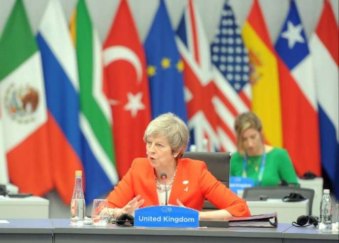 La première ministre du Royaume-Uni, Theresa May, le 1er décembre au G20 de Buenos Aires en Argentine.