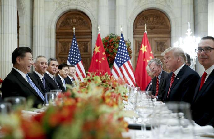 Le président chinois Xi Jinping lors du dîner de travail avec le président américain Donald Trump après le sommet du G20, à Buenos Aires, le 1er décembre.