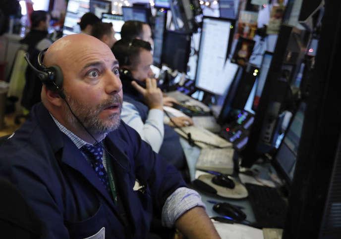A l'étage du New York Stock Exchange, le 3 décembre.
