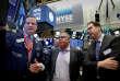 Dion Weisler, patron de Hewlett-Packard (au centre), à la Bourse de New York, le 3 octobre.