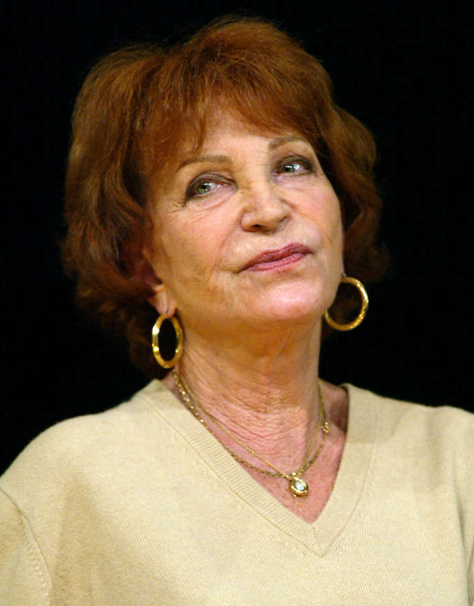 Maria Pacôme, au Théâtre de la Gaité-Montparnasse, le 13 décembre 2012, dans«L'Eloge de ma paresse».