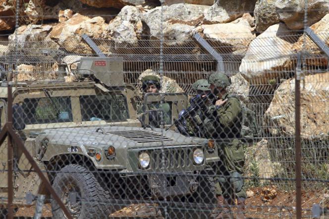 Des soldats israéliens à la frontière avec le Liban, le 8 juin.