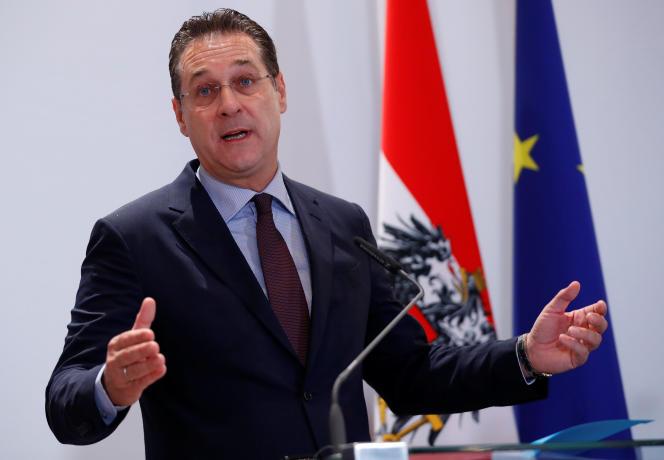 Le vice-chancelier autrichien, Heinz-Christian Strache, le 4décembre, à Vienne.