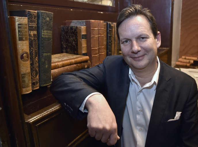 Juan Pirlot de Corbion, fondateur de YouScribe, en février 2015, à Paris.