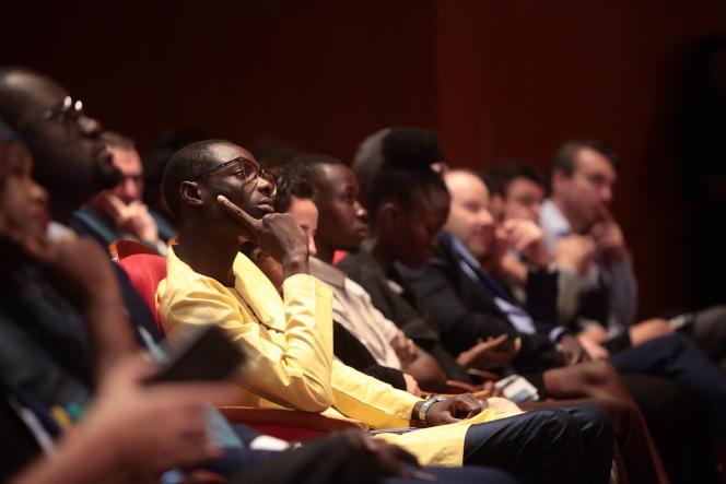 Lors des Débats du« Monde Afrique», au Grand Théâtre national de Dakar, le 22novembre 2018.