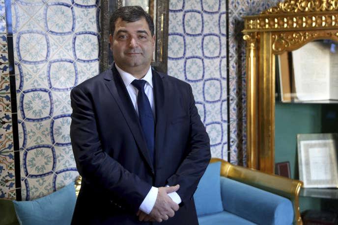 Le ministre du tourisme tunisien, René Trabelsi, à Tunis, le 12 novembre 2018