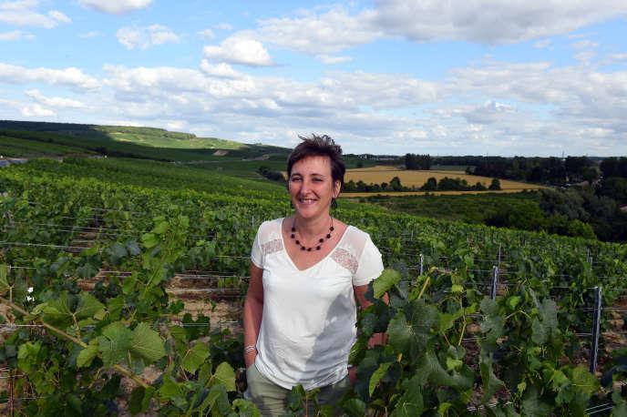Nathalie Laplaige, 40 ans, nouvelle chef de cave chez Joseph Perrier, à Châlons-en-Champagne (Marne).