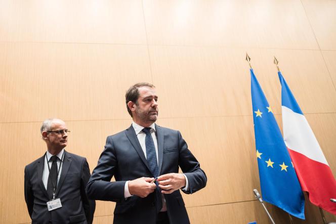 Christophe Castaner et son directeur de cabinet, Stéphane Bouillon, devant la commission des lois de l'Assemblée nationale, lundi 3 décembre 2018.