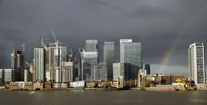 Le quartier financier de Canary Wharf, à Londres, le 19 novembre.