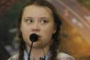 A 15 ans, Greta Thunberg mène une campagne mondiale contre le réchauffement climatique, Katowice, Pologne, 14 décembre 2018.