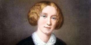 L'écrivaine anglaise George Eliot (1819-1880) vers 1850, d'après un portrait de François d'Albert-Durade.