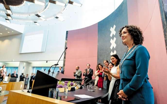 Femke Halsema, la maire d'Amsterdam, à l'origine d'un nouveau débat sur le port du voile aux Pays-Bas.