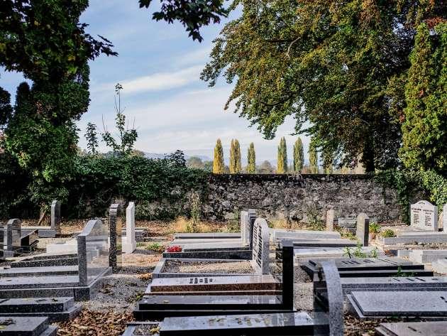 Le cimetière juif de Veyrier, en Suisse.