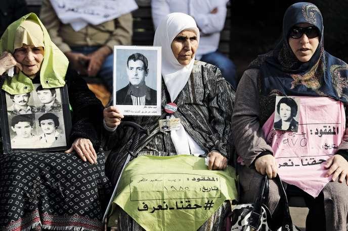 Des familles de disparus, le 28 novembre,à Beyrouth.