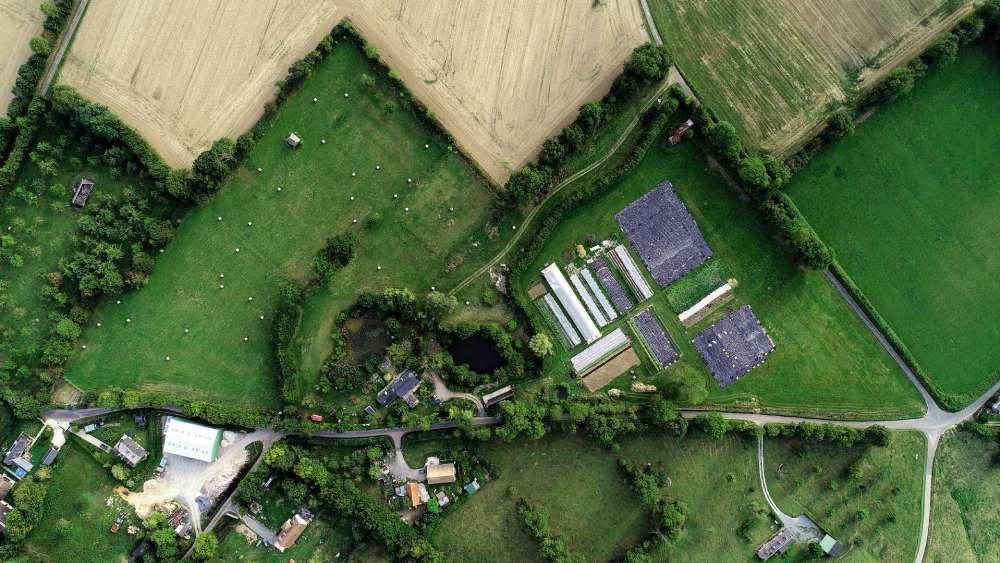 « Une ferme biologique en Normandie.»