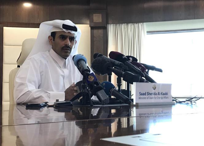 Le ministre qatari de l'énergie, Saad Al-Kaabi, lors d'une conférence de presse à Doha, le 3 décembre.