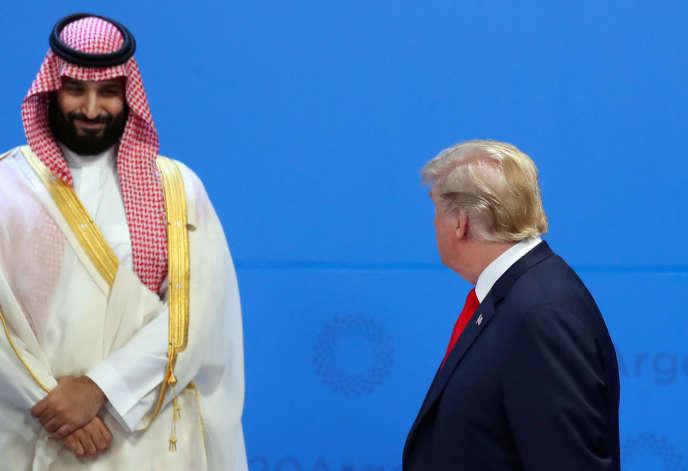 Le prince héritier saoudien Mohammed Ben Salman et Donald Trump lors du sommet du G 20, à Buenos Aires, le 30 novembre.