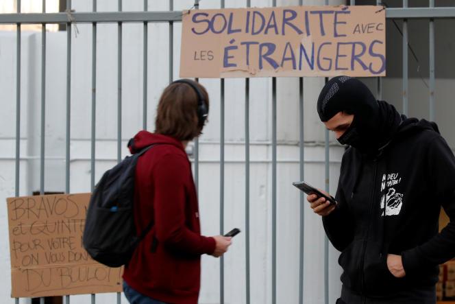Sur le campus de l'université de la Sorbonne, à Paris, le 5décembre.