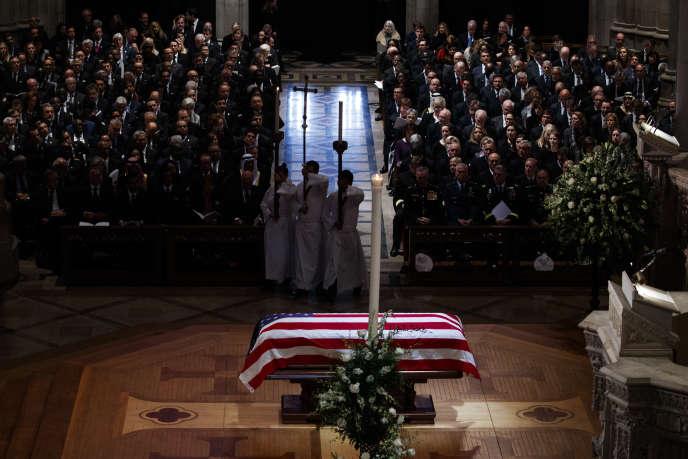 Lors des obsèques d'Etat de George H. W. Bush à Washington, le 5 décembre.