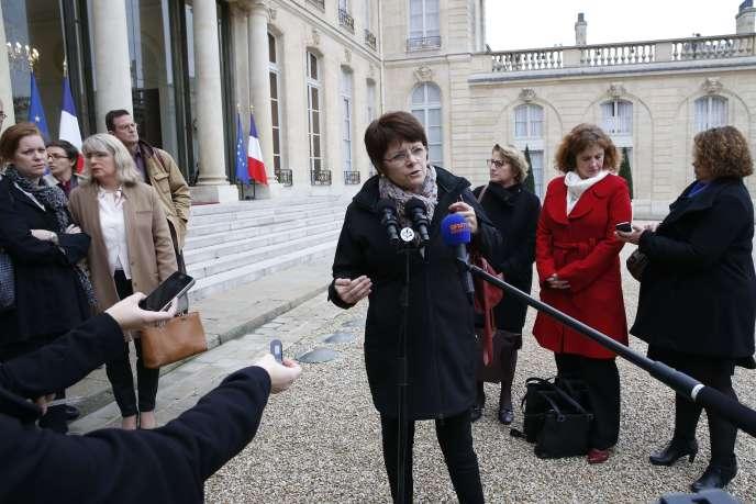 L'ex-présidente du Syndicat de la magistrature,Françoise Martres, à Paris, en octobre 2015.