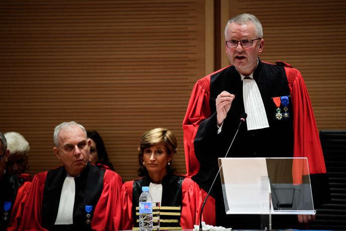 Rémy Heitz, le nouveau procureur de Paris, le 4 décembre, au tribunal de Paris.