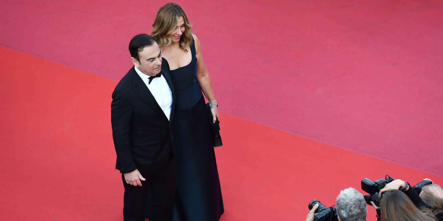 Carlos Ghosn et sa femme Carole - Montée des marches du film « Les Eternels » lors du 71ème Festival International du Film de Cannes. Le 11 mai 2018  © Borde-Jacovides-Moreau/Bestimage