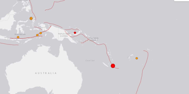 Alerte au tsunami après un puissant séisme au large de la Nouvelle-Calédonie