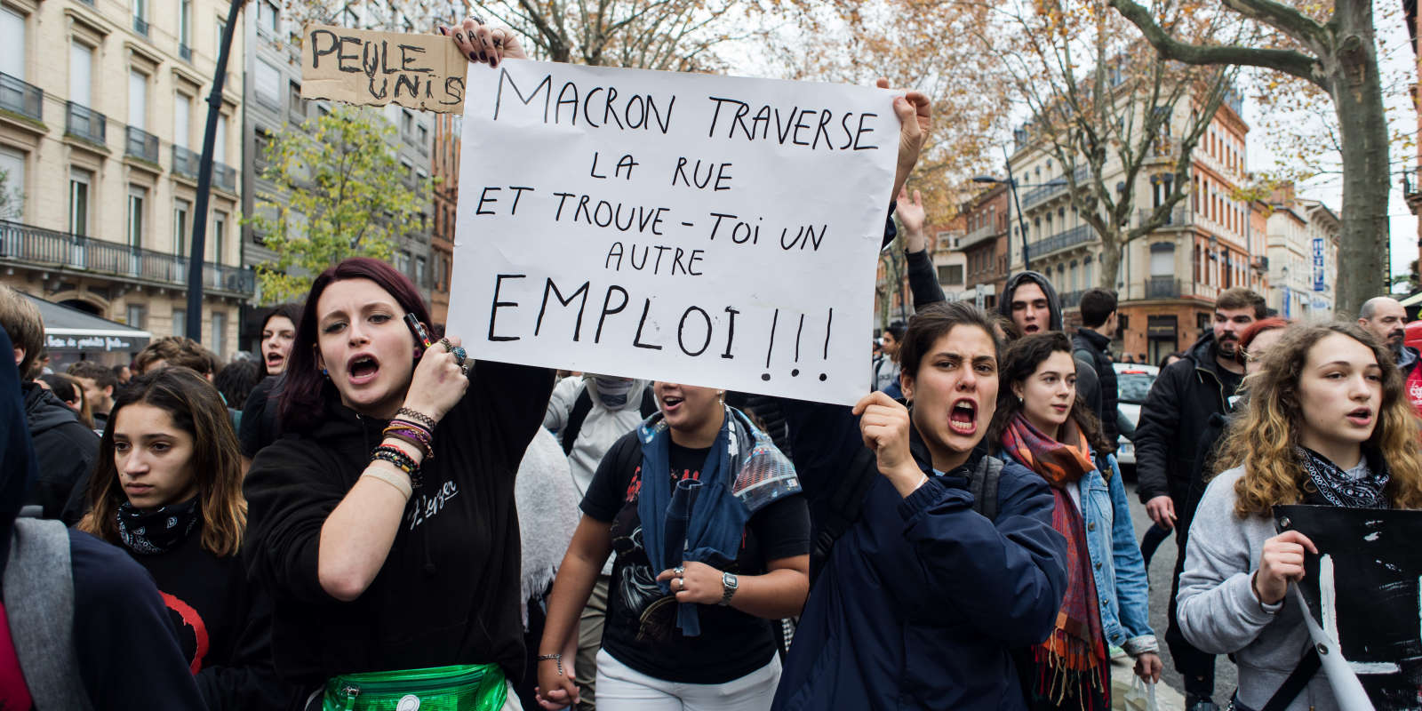 Manifestation des lycéens à Toulouse, jeudi 6 décembre.