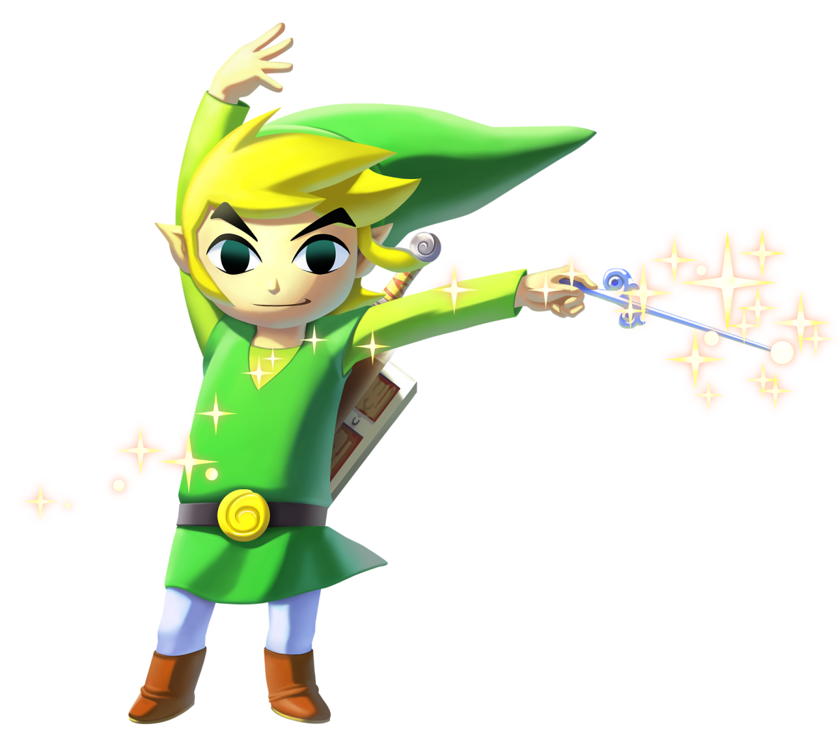 Link dans « The Legend of Zelda : The Wind Waker ».