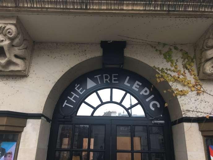 L'entrée du Théâtre Lepic, avenue Junot, sur la butte Montmartre à Paris
