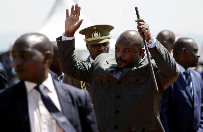 Le président burundais, Pierre Nkurunziza, à Bugendana, le 7juin 2018.