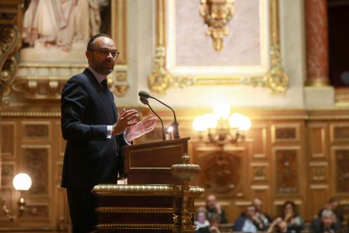 Le premier ministre Edouard Philippe au Sénat, jeudi 6 décembre.