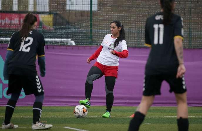 Khalida Popal, l'une des joueuses afghanes ayant fondé l'équipe nationale féminine, à l'origine des révélations, ici le 30 mars 2018 à Londres.
